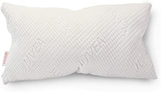 JUVEA All Natural Talalay Latex Adjustable ComforFill Pillow for Sleeping with Ultra Soft, Luxurious Tencel Lyocell Cover with ComforFill Shapeable Latex, King – Made in The USA