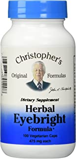 Dr. Christopher's Original Formulas Herbal Eyebright Formula Capsules, 100 Count