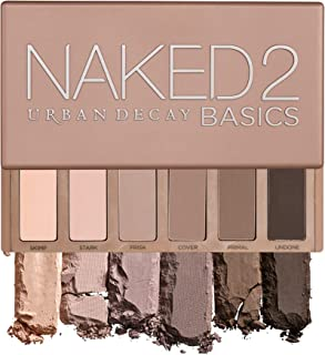 Urban Decay Naked2 Basics Eyeshadow Palette, 6 Taupe & Brown Matte Neutral Shades -...