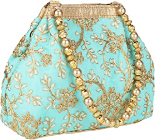 Fantastic Silk Indian Ethnic Potli Bag with Handicraft work