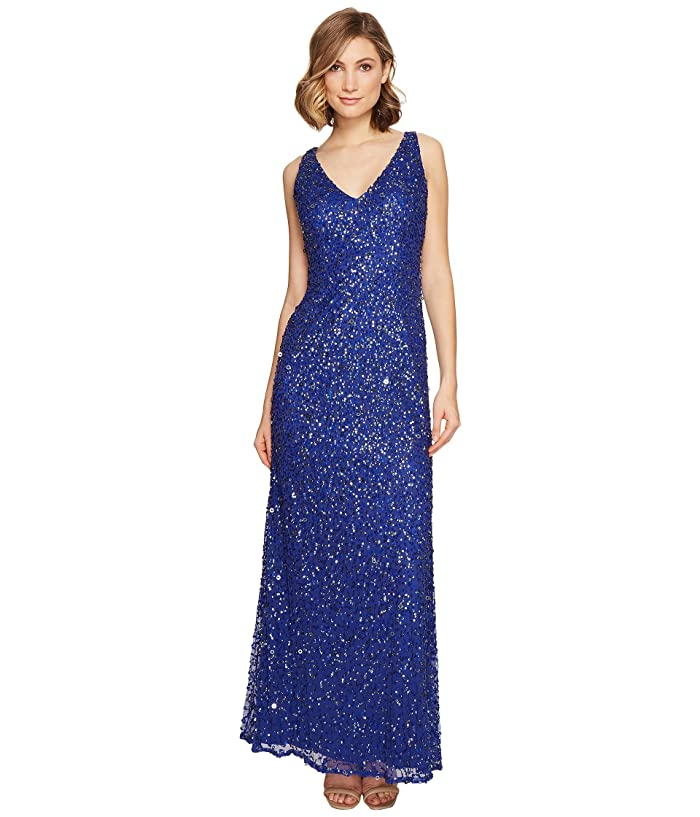ed7552578214 Adrianna Papell Sleeveless Beaded Mermaid Gown at 6pm