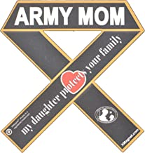 Support Our Troops Army Mom - My Daughter Protects Your Family Xmagnet Vehicle Ribbon Car Magnet Decal
