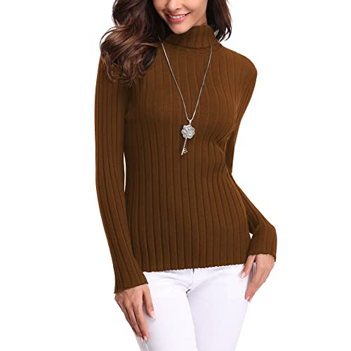 ac7c0d12bb9 Abollria Women s Long Sleeve Solid Lightweight Soft Knit Mock Turtleneck  Sweater Tops Pullover