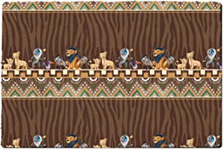 Rainbow Rules Indoor Doormat - Tribal Stripes Lion King Disney Inspired