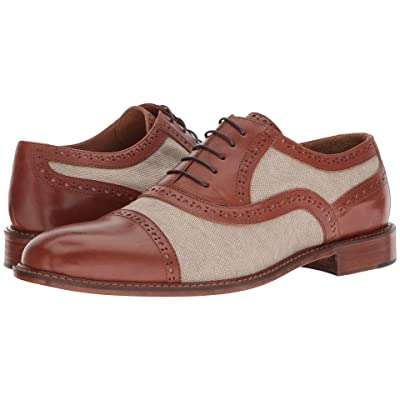 Right Bank Shoe Cotm Indy Vachetta/Canvas Oxford (Beige) Men