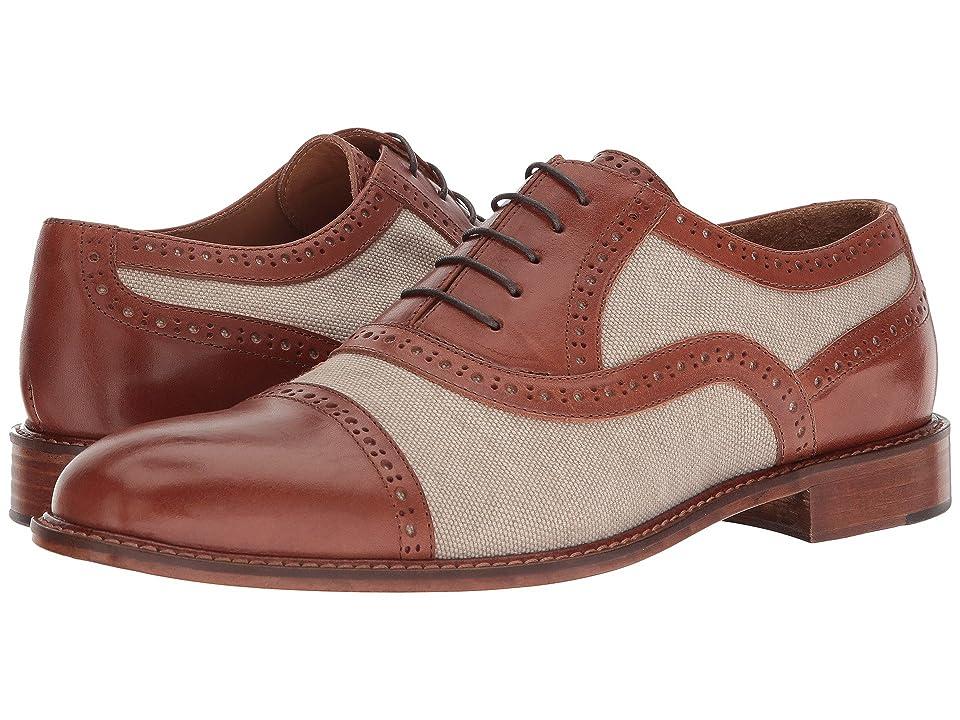 Right Bank Shoe Cotm Indy Vachetta/Canvas Oxford (Beige) Men