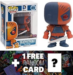 Deathstroke (Preview Exclusive): Funko POP! x DC Universe Vinyl Figure + 1 FREE Official DC Trading Card Bundle [41595]