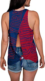 FOCO NFL Womens Tie Breaker Sleeveless Fashion Top Shirt