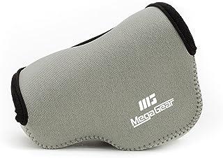 MegaGear Ultra Light Neoprene Bolsa para Cámaras on Mosquetón para Sony NEX-5TL Sony NEX-5R Sony NEX-3N con Sony SELP1650 Sony A5000 Sony A5100 16-50mm (Gris)