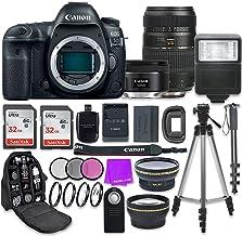 Canon EOS 5D Mark IV Digital SLR Camera with Canon EF 50mm f/1.8 STM Lens + Tamron 70-300mm f/4-5.6 AF Lens + Accessory Bu...
