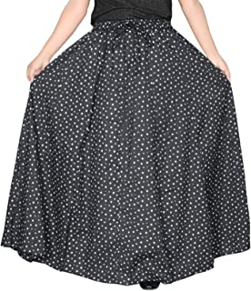 "Sttoffa Printed Cotton Women Wear Long Skirt Length 38"" Inch"