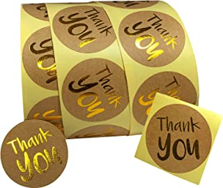 "Ada's Pen & Paper - 1.5"" Round Thank You Stickers Roll - 500 Count 