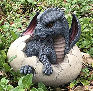 Ebros Large Nightfury Baby Dragon Hatchling in Egg Statue 10