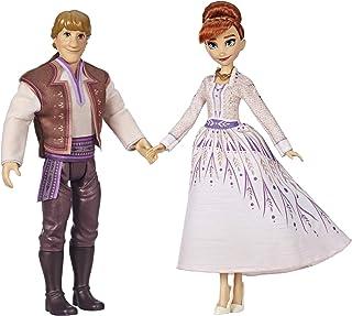 Disney Frozen Anna & Kristoff Fashion Dolls 2 Pack, Outfits Featured in The Frozen 2 Movie, Brown