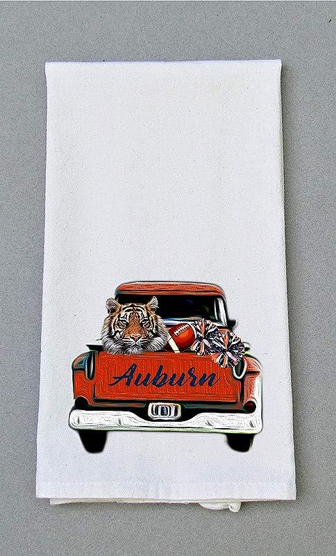 Auburn Football Print Kitchen Bath Hand Towel Kitchen Dish Towel Tailgating Decor Tea Towel