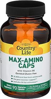 Country Life - Casquillos Máximo-Amino con la vitamina B6 - 90cápsulas vegetarianas