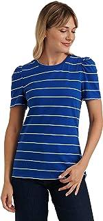 Lucky Brand womens Puff Sleeve Crew Neck Tee T-Shirt