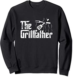 The Grillfather Vintage BBQ Barbecue Grill | Chef Gift Idea Sweatshirt