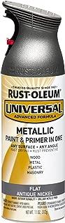 Rust-Oleum 271474 Spray-Paints, 1 Pack, Flat Metallic Antique Nickel
