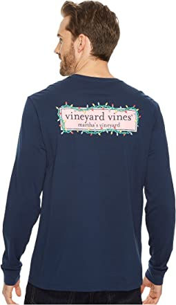 Vineyard Vines - Long Sleeve Logo Box Lights Pocket Tee