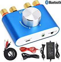 F900 Mini Bluetooth Power Amplifier Wireless Audio Receiver with 12V 5A DC Adapter, Stereo Hi-Fi Digital Amp 2 Channel 50W 2 with AUX/USB/Bluetooth Input (Amplifier+Adapter)