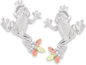 product image for Black Hills Gold on Silver Frog Earrings