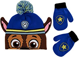 Nickelodeon Boys' Toddler Paw Patrol Character Beanie Hat and Mittens Set