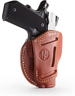 1791 GUNLEATHER 3-Way 1911 Holster - Ambidextrous OWB CCW Holster - Right or Left Handed Leather Gun Holster - Fits All 1911 Models Sig, Colt, Kimber, Ruger, Browning, Taurus and Remmington (Size 1)