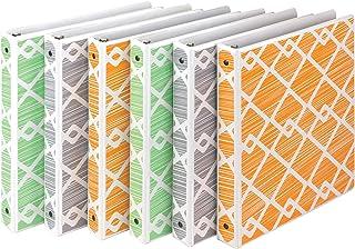 Samsill Fashion Design 3 Ring Binder,Diamond Weave Print, 1 Inch Round Rings, Assorted Colors (Green, Gray, Orange), Bulk ...