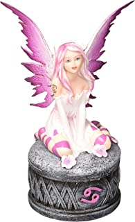 """Major-Q G9091944 6 1/4"""" Cancer Fairy Resin Trinket Jewelry Box Collection"""
