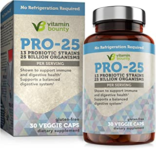 Best Vitamin Bounty Pro 25 Probiotic with Prebiotics - 13 Strains, 25 Billion CFU, for Immune Support, Gut & Digestive Health, with Delayed Release Embocaps™ & Fermented Greens Review