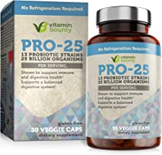 Vitamin Bounty Pro 25 Probiotic with Prebiotics - 13 Strains, 25 Billion CFU, for Immune Support, Gut & Digestive Health, ...