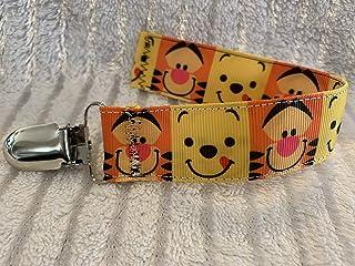 Winnie the Pooh Tigger Pacifier Clip, Winnie the Pooh Ribbon, Custom Baby Gift