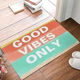 CHARMHOME Good Vibes Only Custom Doormat Door Mat Machine Washable Rug Non Slip Mats Bathroom Kitchen Decor Area Rug