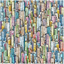 Bgraamiens Puzzle-Skyscraper Sea-1000 Pieces Sketch Colorful Buildings Jigsaw Puzzles