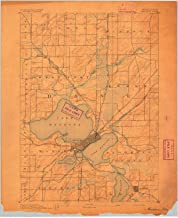 YellowMaps Madison WI topo map, 1:62500 Scale, 15 X 15 Minute, Historical, 1892, 20.22 x 16.53 in