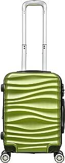 حقيبة سفر بعجلات وهيكل صلب مقاوم للخدش بحجم 20 انش للجنسين من ار اند اف - اخضر - RF-001