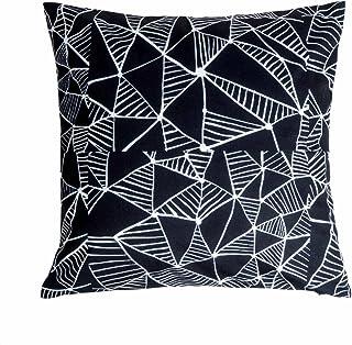 Black Velvet Studio Funda cojín Trendy 100% poliéster, Color Negro y Blanco. Sigue la Tendencia de Moda de Estampados. 45x45 cm.
