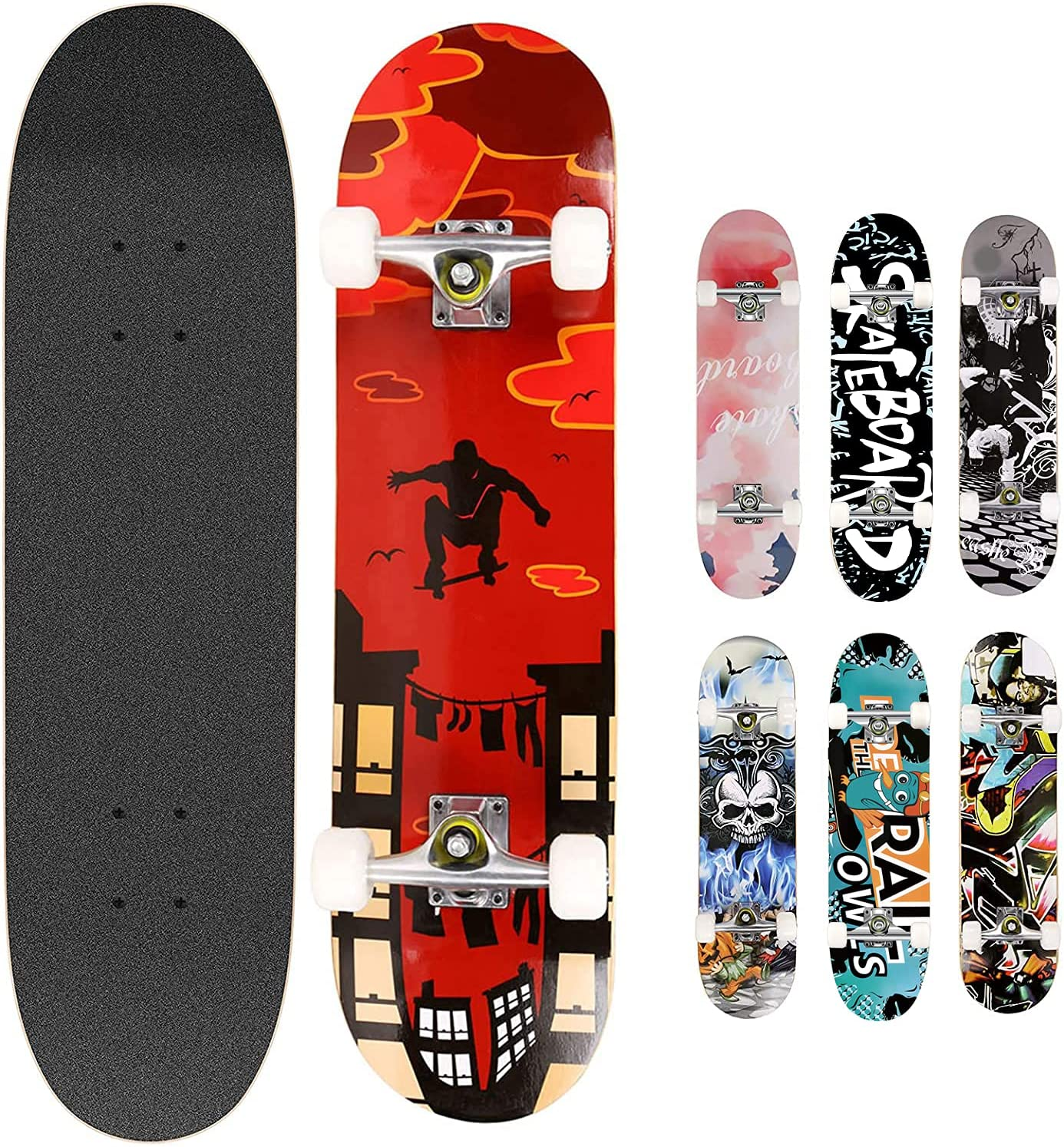 Smibie Skateboards Pro 31 inches Phoenix Mall Complete for Large-scale sale Teens
