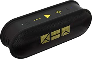 Kew Labs K1 Wireless Portable Bluetooth Speaker - Premium Quality Sound and Bass - Waterproof Pill Design - 12hr Battery Life - Featuring Built-in Mic for Calls (Black)