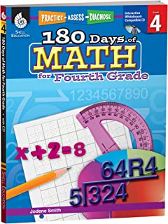180 Days of Math: Grade 4 - Daily Math Practice Workbook for Classroom and Home, Cool and Fun Math, Elementary School Level Activities Created by Teachers to Master Challenging Concepts