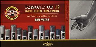 comprar comparacion Koh-I-Noor - Tizas pastel blandas, 12 unidades, en tonos grises
