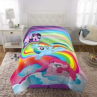 "Franco Kids Bedding Super Soft Reversible Comforter, Twin/Full Size 72"" x 86"", Hasbro My Little Pony"
