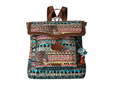 Sakroots Colette Convertible Backpack (Aqua One World) Backpack Bags