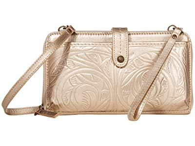 The Sak Iris Large Smartphone Crossbody (Nude Metallic Leaf) Cross Body Handbags