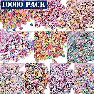 10000 PCS 3D Polyme Slices DIY Nail Art Slime Supplies Charms Slime Making Kit Decoration Arts Crafts(Fruit,Smiling face,L...