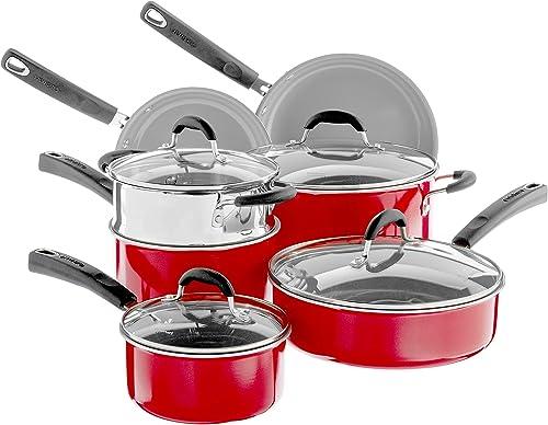 new arrival Cuisinart wholesale Advantage Cookware Set, popular Medium, Red online