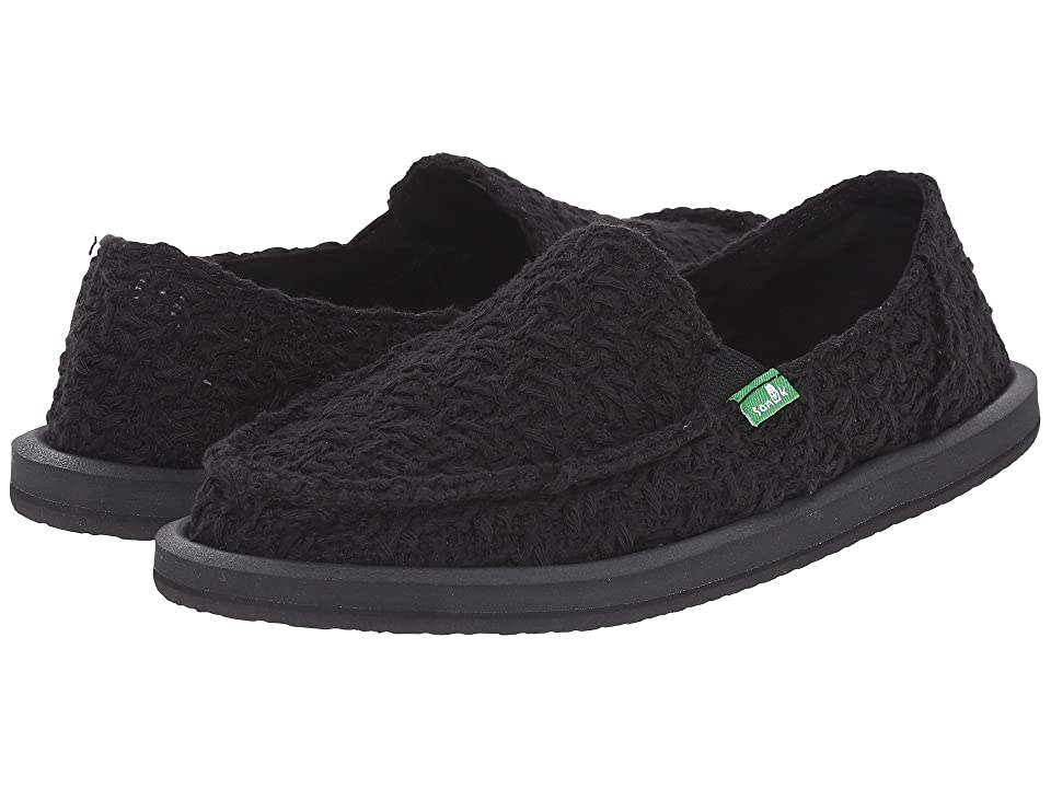 Sanuk Donna Knit Stitch (Black) Women
