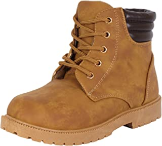 Rugged Bear Boys Lace Up Work Boot (Toddler, Little Kid, Big Kid)