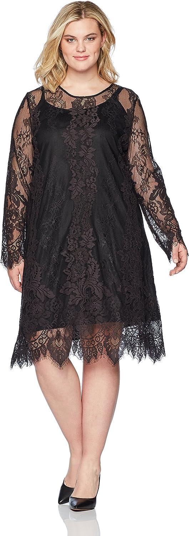 Rebel Wilson X Angels Womens Plus Size 2 color Alencon Lace Dress Cocktail Dress